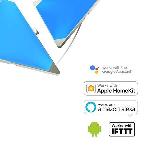 nanoleaf Aurora & Rhythm Starter Kit LED RGBW Farbwechsel-LED & Sound-Modul Starter Set inkl. 9 Panel   App-Steuerung   16 Millionen Farben   Kompatibel mit Apple HomeKit & Android, google assistant - 9