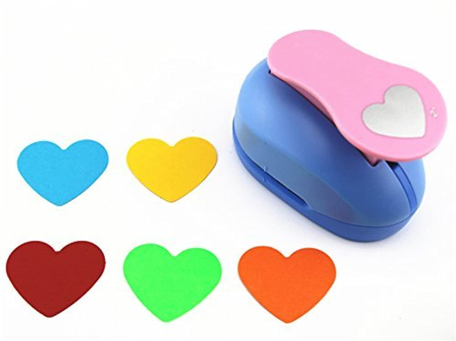 CADY Clever Lever Craft Punch 2-Inch Paper Punches Paper Punch Heart