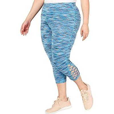 Ideology Plus Size Space-Dyed Cropped Leggings Coastal Aqua 1X