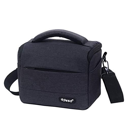 Bolsa de cámara Mochila de poliéster duradero Bolso bandolera impermeable para fotografía Canon Ni-kon So-ny DSLR Cámara lente bolsa