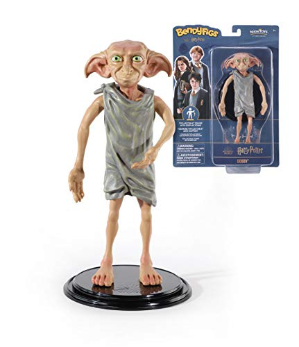 The Noble Collection Bendyfigs Dobby Figure Officially Licensed 19cm (7.5 inch) Harry Potter Bendable Toys Posable Collectable Doll Figures With Stand - For Kids & Adults