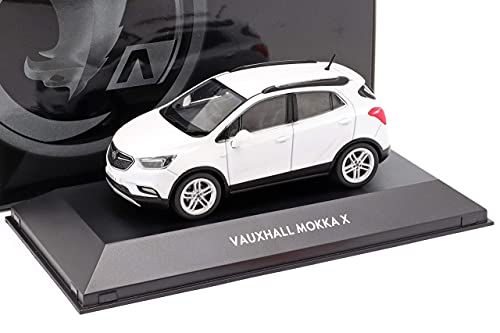 Vauxhall Opel Mokka X 1. Generation SUV Weiss Modell 2012-2020 Version Ab Facelift 2016 1/43 I-Scale Modell Auto mit individiuellem Wunschkennzeichen