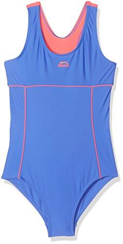9-10 Jahre Slazenger Mädchen Badeanzug in der Farbe : hellblau/pink