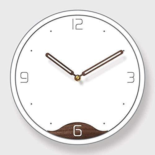 Acrílico simple fondo blanco marrón adornado moda reloj de pared sala dormitorio restaurante