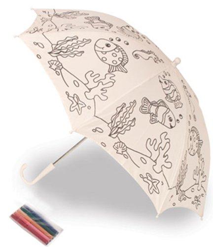 Geschenke mit Namen Kinderschirm zum Bemalen, inklusive wasserfeste Stifte, ca. 69 cm Durchmesser