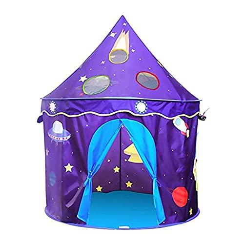 ZIHUAD Tienda de CampañaTela a Prueba de Lluvia de Tela de Lona Tienda de Tela a Prueba de Lluvia para niñas Pop Up Kids Tiende Diadema y Juguetes de Caja para niñas Prince
