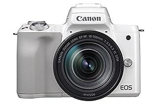 Canon EOS M50 Systemkamera spiegellos - mit Objektiv EF-M 18-150mm IS STM (24,1 MP, dreh- und schwenkbares 7,5 cm (3 Zoll) Touchscreen LCD, Digic 8, 4K Video, OLED EVF, WLAN, Bluetooth), weiß/silber (B07B31Y9WW) | Amazon price tracker / tracking, Amazon price history charts, Amazon price watches, Amazon price drop alerts
