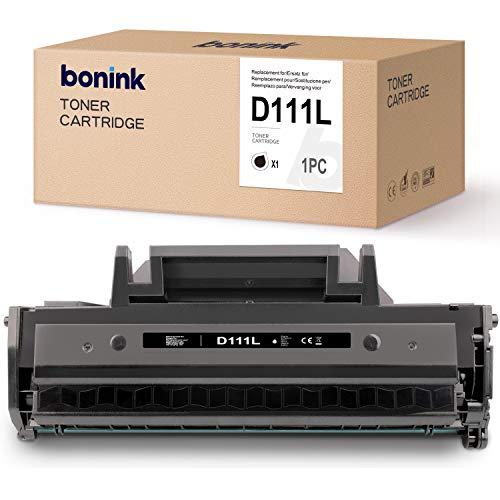BONINK Compatible con Samsung MLT-D111L D111L MLT-D111S Tóner Negro para Samsung Xpress M2026W M2026 M2070 M2070FW M2020W M2020 M2022W M2022