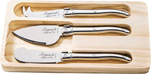 Laguiole Style de Vie Käsemesser-Set Premium Line, 3-teilig, Edelstahl
