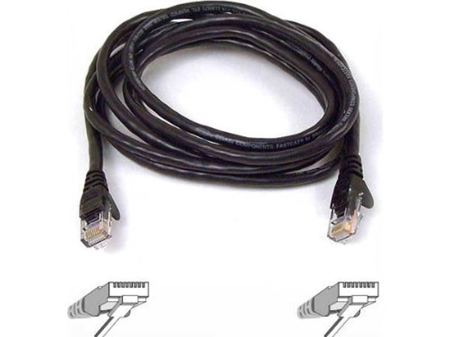 Belkin High Performance Category 6 UTP Patch Cable 25ft (Black) (A3L980-25-BK)