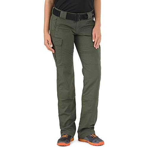 5.11 Tactical Women's Stryke Covert Cargo Pants, Stretchable, Gusseted Construction, TDU Green, 8/Long, Style 64386