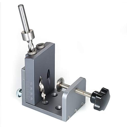Roeam Pocket Hole Jig System, Precise Positioning without Burr, Aluminum Alloy Hole LocatorJig Kit
