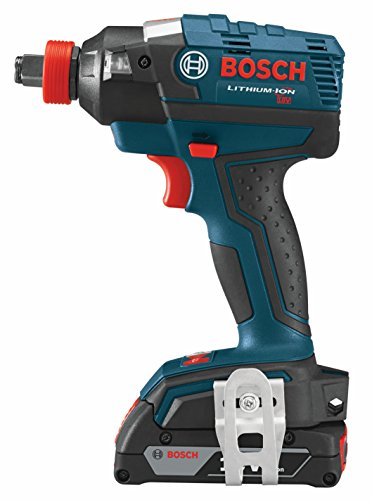 Bosch IDH182-02 Cordless Impact Driver - 18-Volt Lithium Ion Brushless Tool Kit with (2) 2.0Ah Lithium Ion Batteries, Charger and Carrying Case , Blue