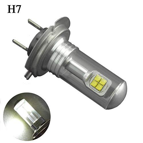 Ruiandsion H7 LED Ampoule brouillard AC 12-24 40W 6000K Blanc CREE Ampoule LED 1000lm 8SMD de rechange pour voiture Phares antibrouillard Feux de jour Lumière (pack de 2)