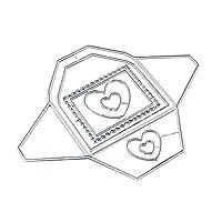 カッティングダイ [グリーティングカード愛]手作り 描画テンプレート ナーリング DIY クラフト アルバム カード 絵図 手帳用 紙飾り用 カード作り道具 ペーパーカット-シルバー クリスマス 新年 用-Silver