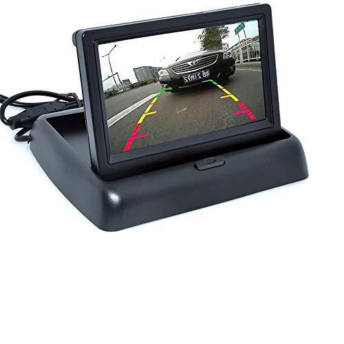 Niyregiy 4,3 Zoll HD Faltbarer Auto-Rückfahrmonitor Umkehr-LCD-TFT-Display mit Nachtsicht-Rückfahrkamera 4,3-Zoll-Klappmonitor