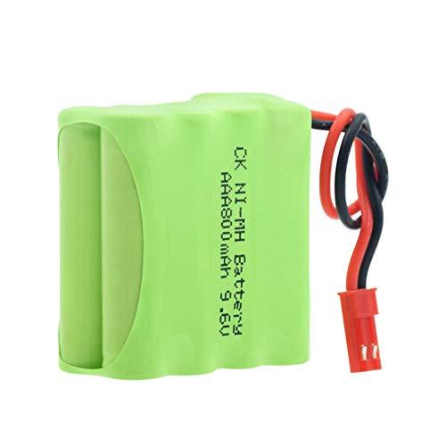 HTRN Batería De 9.6v 800mah 8 * AAA Ni-Mh, Grupo Recargable del Paquete con Las BateríAs del Conector Jst-2p