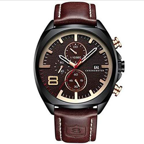 ZTT Männer Sportuhren Mode Marke Analog-Quarz-Uhr-Armbanduhr Wasserdicht Gurt-Uhr-Kalender,A