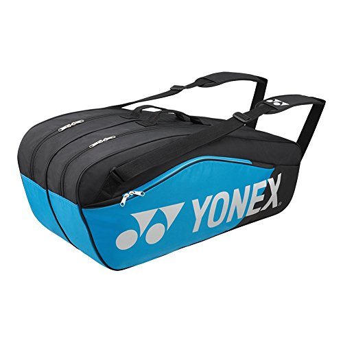 Yonex - Pro Replica 6 Pack Tennis Bag Black and Infinite Blue - (BAG6826)