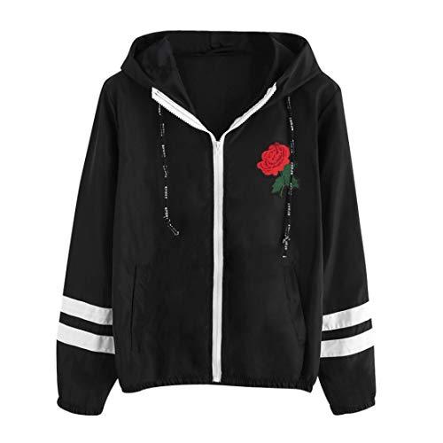 Damen Winter Langarm Hoodies Mantel Kapuze Jumper Outwear Plus Size Casual FL