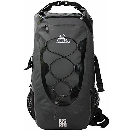 Cox Swain 35L wasserdichter Outdoor Rucksack Packsack für Fahrrad, Motorrad, Wassersport etc, Colour: Black