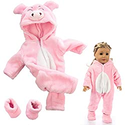 Material: cotton.Perfect for keeping warm on a cold winter's day! Size:fit for 18 inch Dolls.Designed and manufactured by American Fashion World. Outfit has luxurious high quality fabrics. Our clothing has beautiful fabrics with a soft velcro closure...