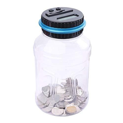 Tarro de Ahorro de Dinero Hucha de plástico Transparente Creativa Hucha de conteo automático electrónico Inteligente Hucha de...