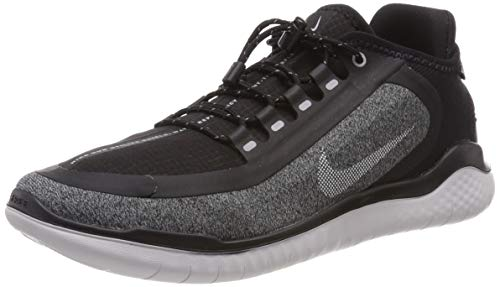 Nike Men's Free RN 2018 Shield, Black/Reflect Silver, Size 10