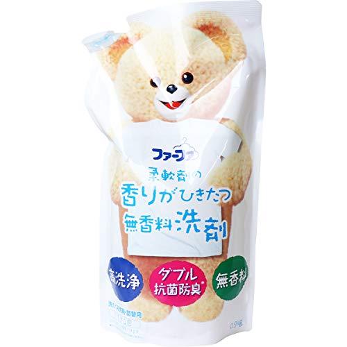 【NSファーファ・ジャパン】ファーファ 液体衣料用洗剤 柔軟剤の香りがひきたつ無香料 詰替 0.9kg ×5個セット