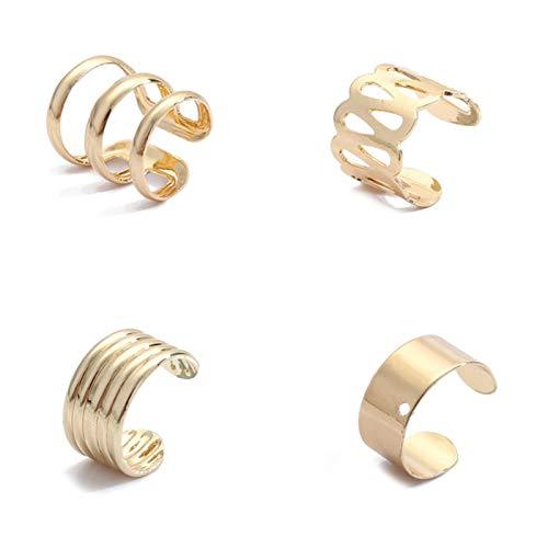 AQUALITYS Pearl Zircon Clip on Earrings Ear Cuffs Stackable Earrings for Women Pierced Cartilage Earring Accessories-26