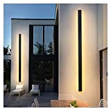 GUYANMAY Lámpara Aplique Pared LED Luz de Pared al Aire Libre DIRIGIÓ Lámpara de Pared Impermeable IP65 Luz de Pared de Aluminio Larga al Aire Libre para jardín Villa Porche Luminaria Luminaria