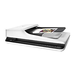 HP Scanjet Pro 2500 F1 L2747A, Scanner a Passaggio Singolo Professionale per Documenti e Immagini, Rendimento Medio di 1.500 Pagine al Giorno, Compatto, Moderno e Pratico, Bianco