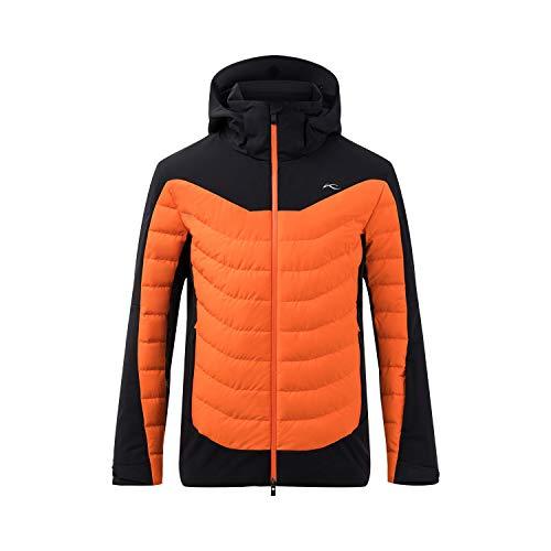Kjus Men Sight Line Jacket Orange-Schwarz, Herren Daunen Isolationsjacke, Größe 50 - Farbe Black - Kjus Orange