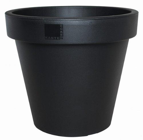 geli Thermo Plastic E&K plantenpot bloempot van kunststof hoeken en randen 35 cm antraciet 38