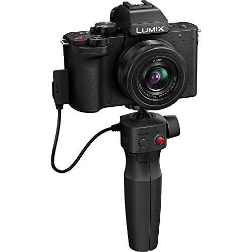 Panasonic Lumix DC-G100VEG-K DSLM Kamera, CMOS-Sensor, 20,3 MP, 4 K Video, Hybrid IS mit 5 Achsen, OZO Audio Nokia, Selfie-Video-Modus, Handgriff/Stativ, schwarz