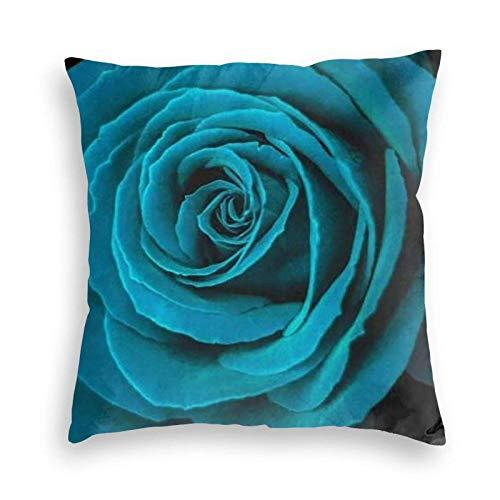 SUN DANCE Funda de cojín decorativa suave para sofá, coche, cama, 50,8 x 50,8 cm, color azul