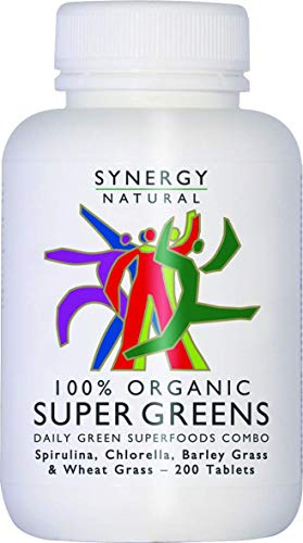 SYNERGY NATURAL Organic Super Greens 200 Tablets 200tabs (PACK OF 1)