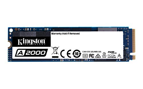 Kingston A2000 - Disque SSD - chiffré - 1 To - interne - M.2 2280 - PCI Express 3.0 x4 (NVMe) - AES 256 bits