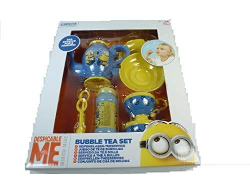 357408 Minion Seifenblasen-Teeservice mit viel Zubehör (Teekanne, Teetassen + Untertassen, Teelöffel, Seifenblasenbehälter), Kinder Spielzeug, Seifenblasen, Minions