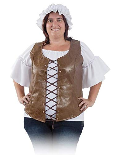 DISBACANAL Chaleco Medieval Mujer - -, XL