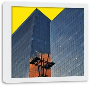 Quadro Decorativo para Sala - Avenida Moderna Paulista - Moldura Caixa 2.1 cm