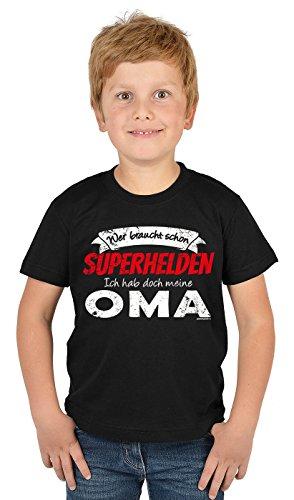 Kinder Tshirt Oma Sprüche Großmutter Enkel Kindershirt : Superhelden Meine Oma - Jungen Sprüche Shirt Oma Enkelsohn Gr: XS = 110-116