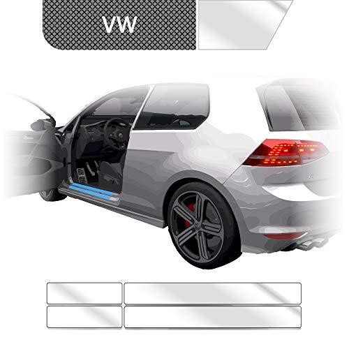BLACKSHELL Einstiegsleisten Schutzfolie + Premium Rakel für Tiguan 2 AD1 ab 2016 Transparent - SET für alle Einstiege mit Anleitung - passgenaue Lackschutzfolie, Auto Schutzfolie