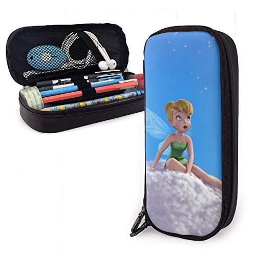 Tinker Bell und Piratenfee Federmäppchen für Erwachsene und Studenten, Buggy-Tasche mit Reißverschluss, Leder Stifte-Etui, Make-up-Tasche für Bleistifte, Stifte, Marker.