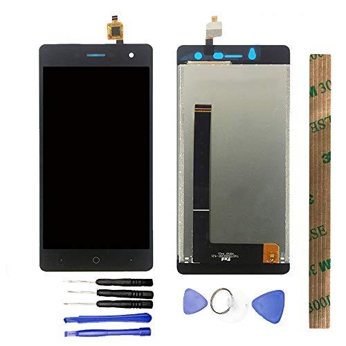 JayTong - visualización LCD y digitalizador de visualización táctil de Repuesto para ZTE Blade L7 Global 3G Negro