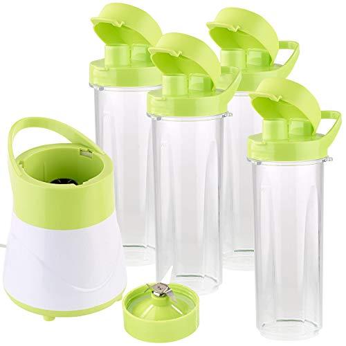 Rosenstein & Söhne Smoothie Maker: 2in1-Smoothie- & Standmixer mit 4 Trinkbechern, BPA-frei, 500 ml (Mixer)