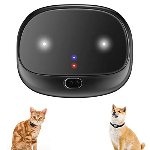 BARTUN GPS Dog Tracker, Real-Time Tracking Collar Device, APP Control for Dogs and Cats with Unlimited Range (Black)