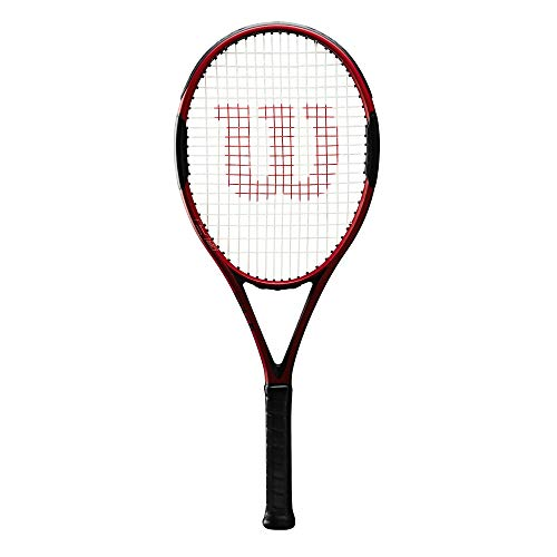 Wilson Raqueta de tenis, H5, Jugador de tenis recreativo, Rojo/negro, WRT57320U3