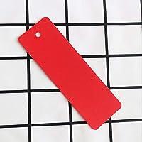 120個 用紙のブックマーク,簡単 空白 クラフト ブックマーカ を使用 30 カラフル タッセル,Diy 第 プロジェクト ギフト タグ しおり 子供-赤 14.3x4.6cm(5.6x1.8inch)