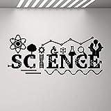 Adesivo Murale Adesivi Murali Segno Di Scienza Dna School Classroom Poster Istruzione Vinyl Chemical Art Class Room Room Decoration 100X42 cm
